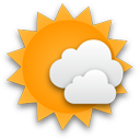 Mostly cloudy until evening.