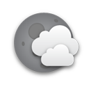 Mostly cloudy until afternoon.