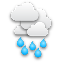 Drizzle starting in the afternoon, continuing until evening.
